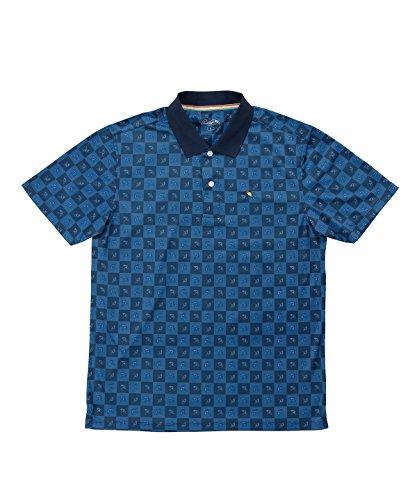 アーノルドパーマー メンズ ゴルフ ポロシャツ 半袖 総柄モノグラムPT半袖ポロ AP220101H05 NV O