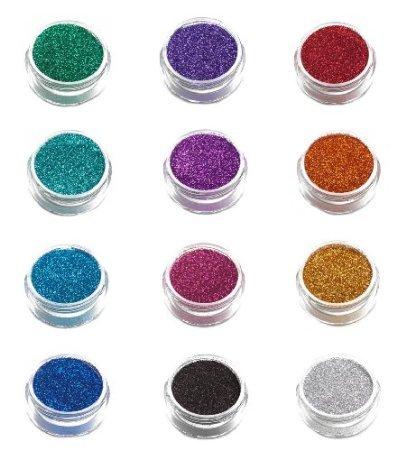 12 Pack of Glimmer Body Art Shimmer Body Glitters by Glimmer Body Art