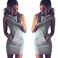 Lookatool Fashion Womens Summer Casual Sleeveless Hoody Dress