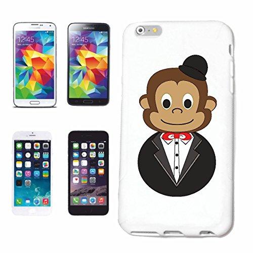 "cas de téléphone iPhone 7 ""CHIMPANZEE FUNNY AVEC COSTUME ET MELON CHIMPANZEE MONKEY GORILLA APE SILVER orang-outan RETOUR GIBBON"" Hard Case Cover Téléphone Covers Smart Cover pour Apple iPhone en blan"