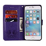 Strap Leather Case for iPhone 6S,Flip Smart Cover