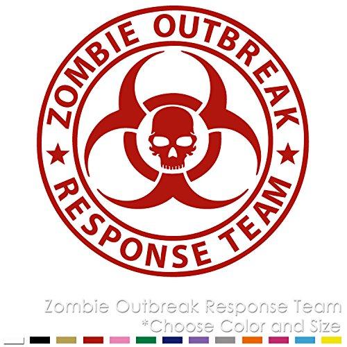 ZO-01 Zombie Outbreak Response Team Funny Logo Vinyl Decal Sticker