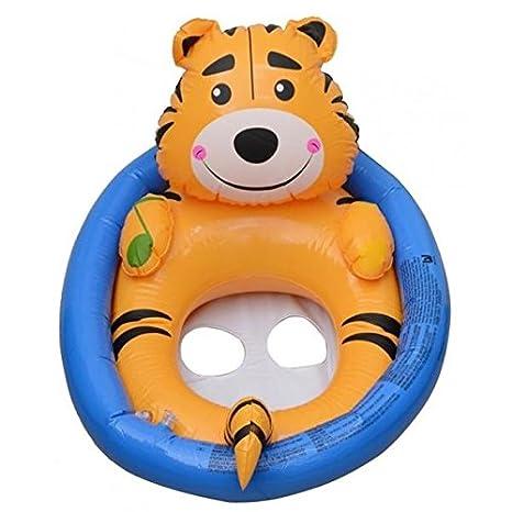 Flotadores para bebes, niñas y niños de 0 a 4 años para la playa y la piscina: Tigre. Fácil de hinchar e inflar: Amazon.es: Juguetes y juegos