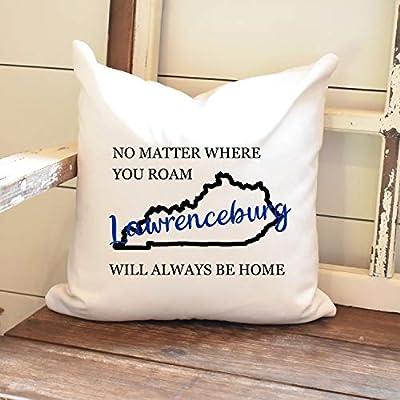 Athena Bacon State Pillowcase CoverHOME Throw Pillowcase Farmhouse Decor Kentucky Decor Farmhouse Pillowcase Throw Pillowcase Hometown Decor New Home Gift