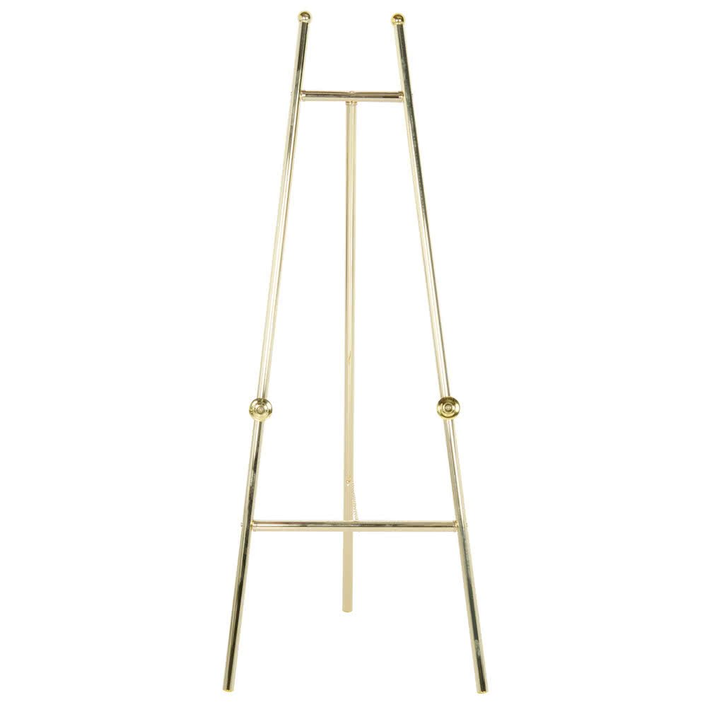 Rainbow Sign Mfg. EBS-060 24'' x 60'' Brass Colored Metal Easel By TableTop King