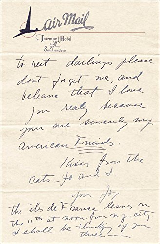 Josephine Baker – Autograph Letter Signed 08/02/1957
