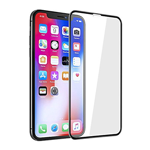 """iPhone Xs Max Full Coverage Glass Screen Protector, iFlash [2 Pack] Full Cover Tempered Glass Screen Protector for Apple iPhone Xs Max 6.5"""" – Face ID/Edge-to-Edge Curved Surface/Bubble Free –Bla"""
