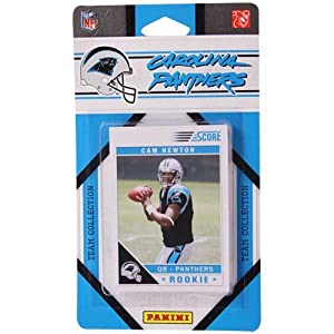 2011 Score Carolina Panthers Factory Sealed 11 Card Team Set. Players Include David Gettis, Chris Gamble, Steve Smith, Mike Goodson, Jonathan Stewart, Jon Beason, Jimmy Clausen, Brandon Lafell, Deangelo Williams, Cam Newton, Kealoha Pilares.