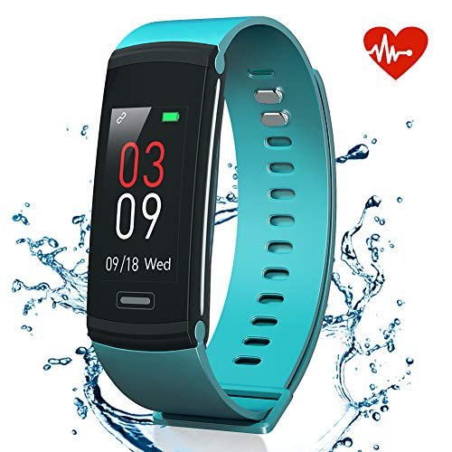 AKASO Kids Fitness Tracker Pedometer Watch, Activity Tracker with Heart Rate Monitor, Waterproof Step Counter for Walking, Fitness Watch for Kids Women Man (Blue)
