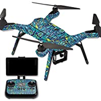 MightySkins Protective Vinyl Skin Decal for 3DR Solo Drone Quadcopter wrap cover sticker skins Blue Veins