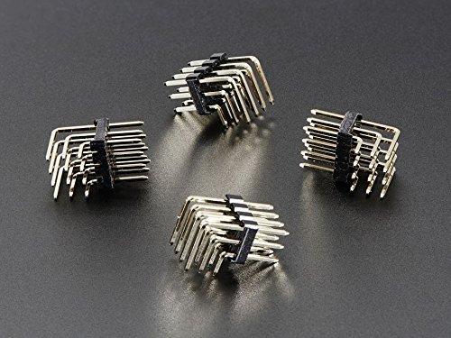 Adafruit 3x4 Right Angle Male Header - 4 Pack [ADA816]