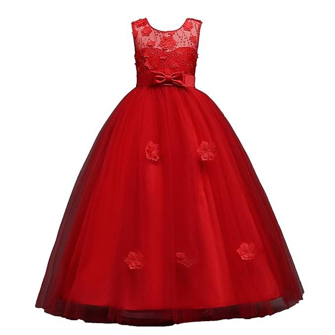 Amazon.com: SUNNY SEP Little Big Niñas piso longitud vestido ...