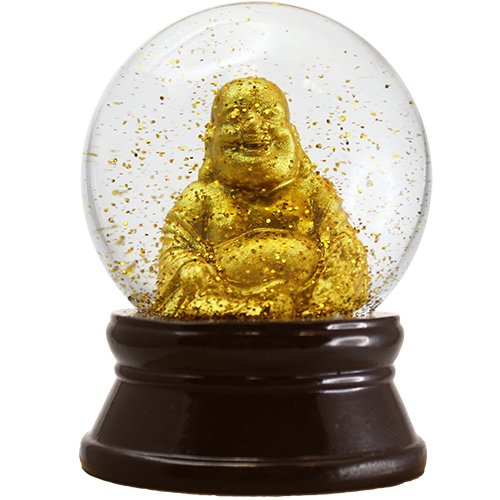 GOLDEN BUDDHA SNOW GLOBE (LARGE) by World Buyers