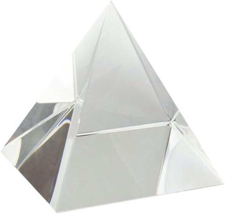 Ten Fermacarte a foma di Piramide in Vetro cod.EL35337 cm 6x6x6h by Varotto /& Co.