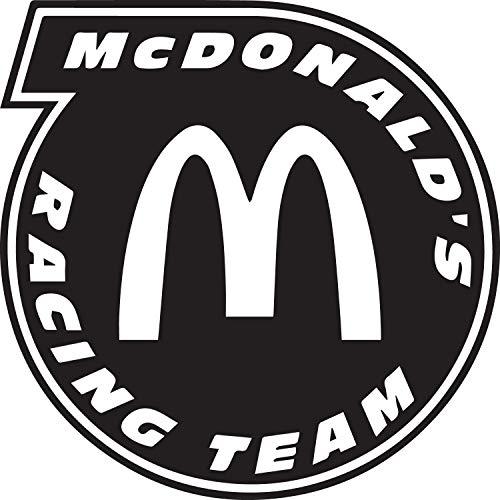 NBFU DECALS McDonald's Racing Team (Black) (Set of 2) Premium Waterproof Vinyl Decal Stickers for Laptop Phone Accessory Helmet CAR Window Bumper Mug Tuber Cup Door Wall Decoration