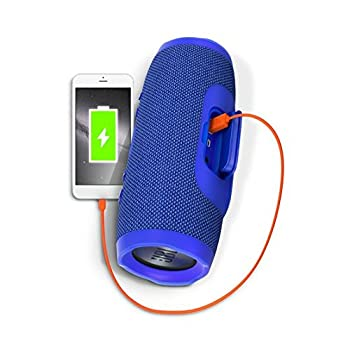 Jbl Charge 3 Waterproof Portable Bluetooth Speaker (Blue) 3