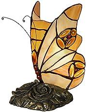 Save on World Art TW60002 Schmetterling Nachttischlampen tischlampe glas im tiffany-stil handwerk, 22x13x13 Cm and more