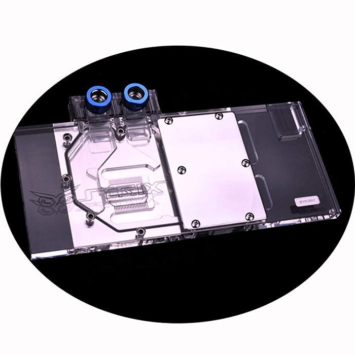 Bykski GPU Liquid Cooler Copper Waterblock G1/4 Full Cover Water Cooling Block PC Liquid Cooling Watercooling Block for Graphics Card Asus ROG Strix RX 480 O8G Gaming Asus ROG RX 580 O8G Gaming