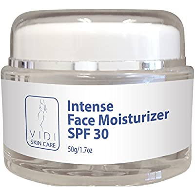 Face Moisturizer with SPF 30, Face Cream with SPF30 Suits Sensitive Skin with Zinc Oxide 1.7 ounce Jar