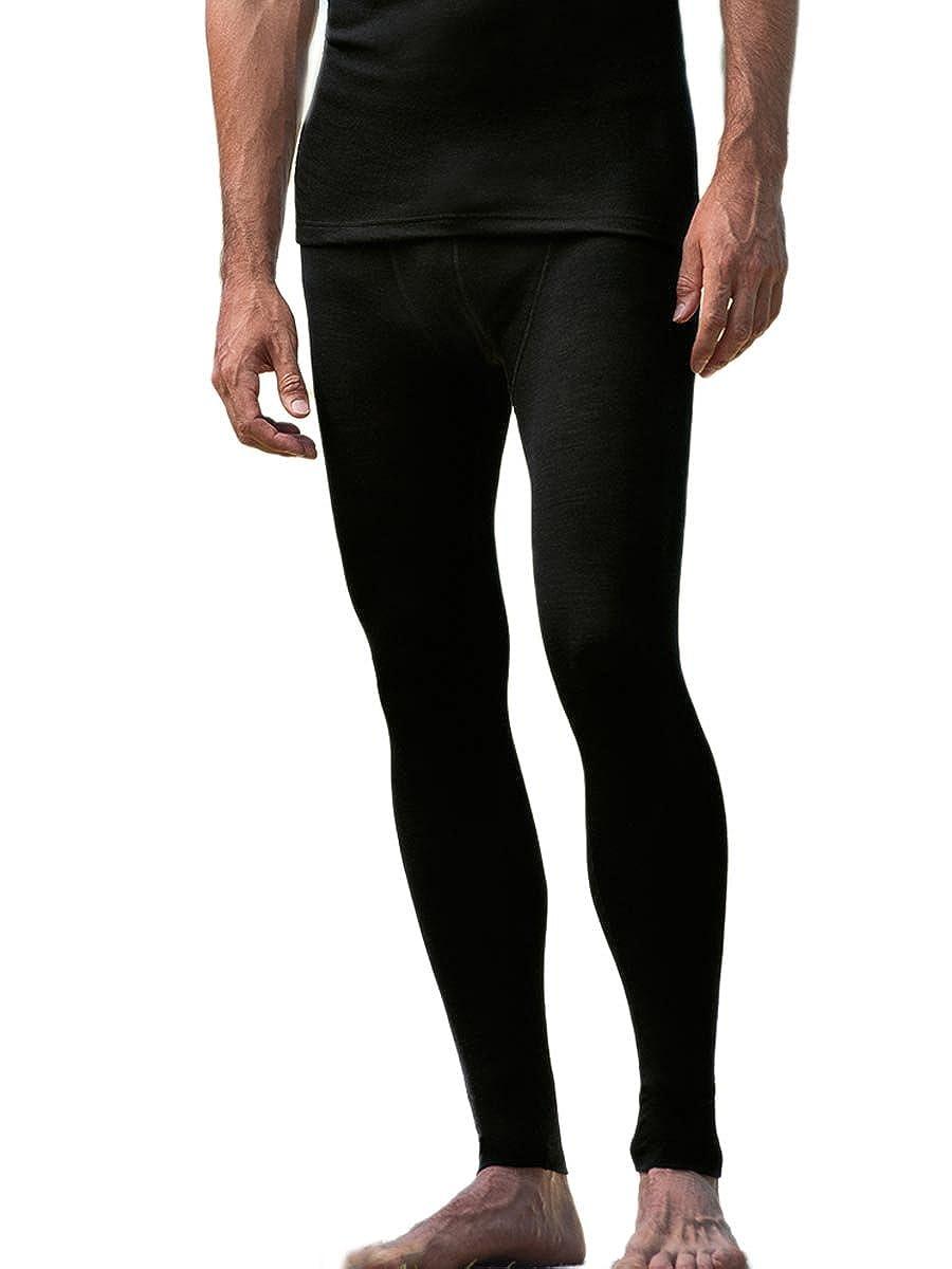 Uomo Leggings di lana, seta, Angelo Natura, 2colori (GOTS) 701900