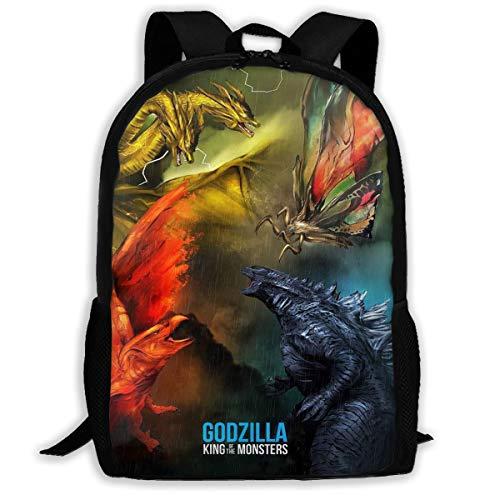 Godzilla 2 King Of The Monsters 2019 Multi-function Backpack College Bookbag (Best Backpacks For 2019)