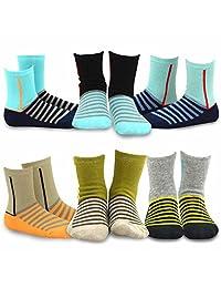 TeeHee (Naartjie) Kids Boys Fashion Fun Cotton Crew Socks 6 Pair Pack
