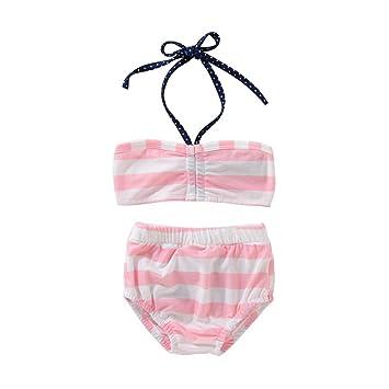 3954be0bb01d0 Filles Maillot de bain, Huhua Toddler Teen enfants Infant bébé fille Sangle  Dos nu à