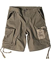 Mil-Tec Paratrooper Cargo Pantalones Cortos Lavados Oliva