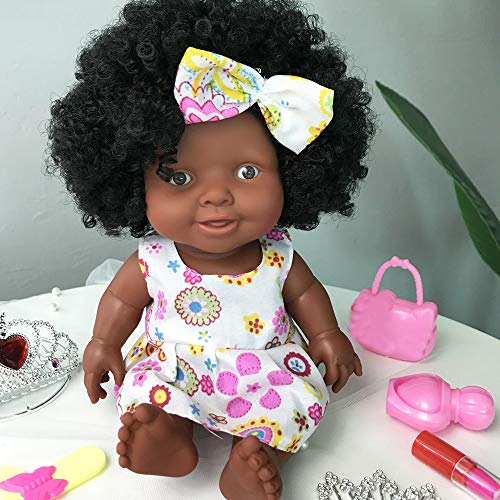 LtrottedJ Baby Movable Joint African Doll Toy Black Doll Best Gift Toy (Coffee) -