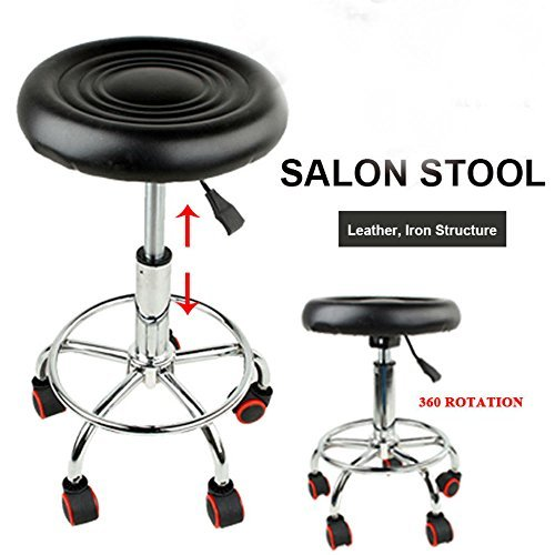Hydraulic Adjustable Stool Facial Salon Massage Spa Dental Swivel Rolling Chair from Unknown
