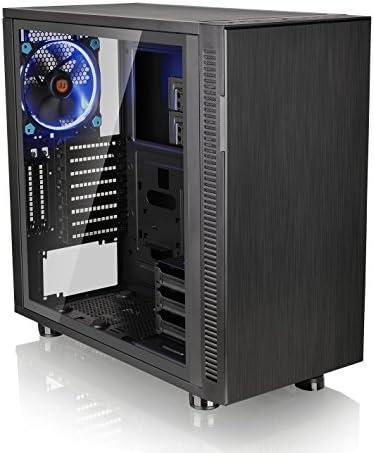 Thermaltake Suppressor F31 Tempered Glass Edition SPCC ATX Mid Tower Tt LCS دارای مجوز فوق العاده ساکت بازی رایانه خاموش CA-1E3-00M1WN-03