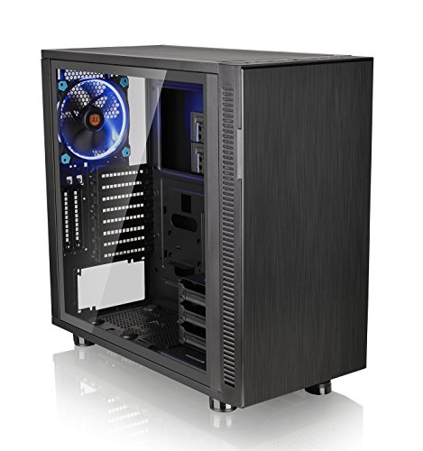 Ultra Quiet Fan Panel (Thermaltake Suppressor F31 Tempered Glass Edition SPCC ATX Mid Tower Tt LCS Certified Ultra Quiet Gaming Silent Computer Chassis CA-1E3-00M1WN-03)