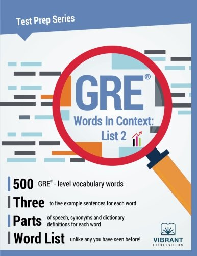 GRE Words In Context: List 2 (Test Prep Series) (Volume 14)
