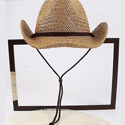 Vaquero Vaquero Sombrero de Verano Occidental Sombrero Gorras béisbol Sombrero de de de Paja Sombrero de de Copa LHA Alto POAwa8O