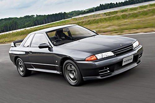 Soportes De Radiador Anodizado Aluminio Negro Encaja Nissan Skyline R32 GTS-T GTR