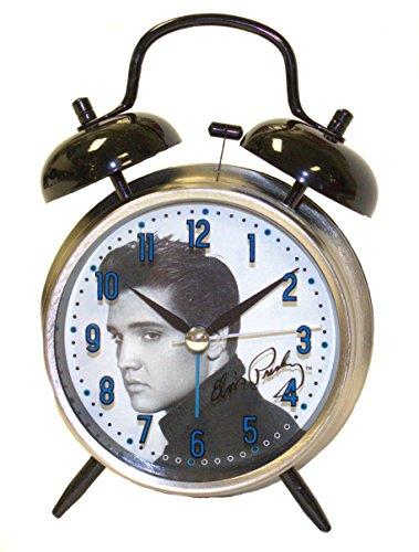 Elvis Presley Twin Bell Analog Alarm (Mlb Baseball Alarm Clock)