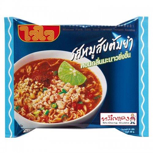 [Wai Wai Minced Pork Tom Yum Flavour 60 g.] (Chun Li Wig)