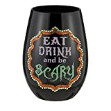Stemless Wine Glass By Grasslands Road (Eat, Drink and Be Scary)