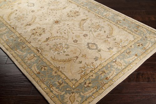 Hand Tufted Camel (Surya Clifton CLF-1014 Classic Hand Tufted 100% Wool Parchment 5' x 8' Traditional Area Rug)