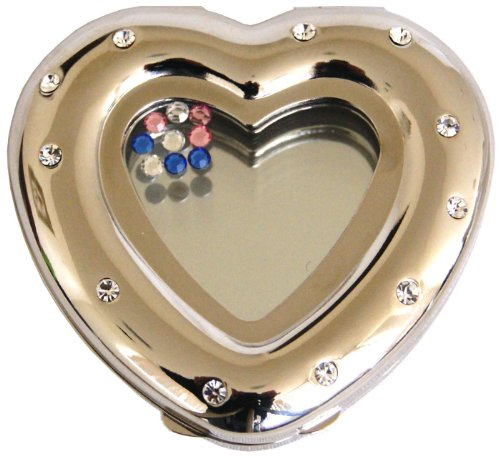Heart Compact Mirror (Rucci Compact Mirror, Heart Shaped)
