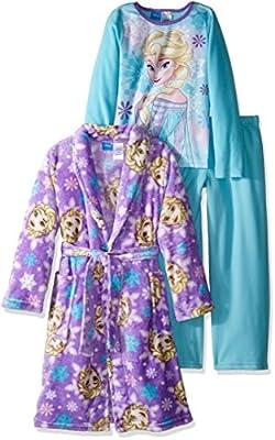 Disney Girls' Frozen Elsa 2-Piece Pajama Set with Robe