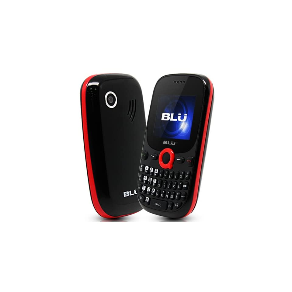 BLU Q100 Samba Q   Unlocked Phone   US Warranty   Retail Packaging   Black/Red