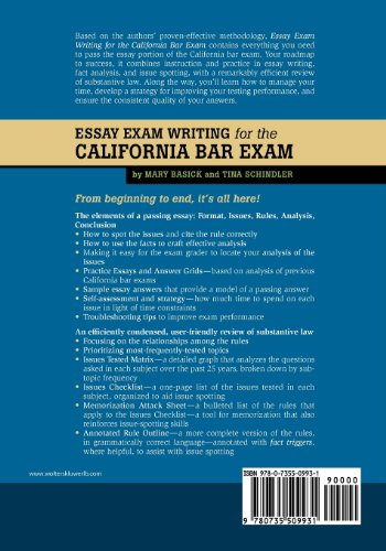 how are essays scored on the california bar
