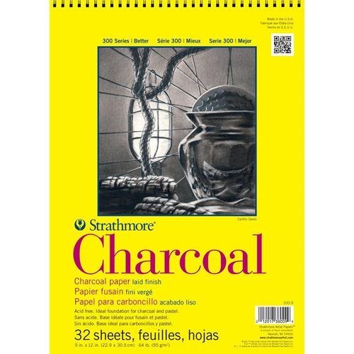 strathmore-charcoal-paper-pad-32-sheets-9-x-12-inch-white-330-9