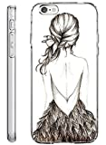 iPhone 6S Plus Hard Cover 5.5 Inch Ultra Slim Thin Cute and Lovely Sketch