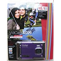 ViviCam X026 10.1 MP HD Digital Camera (Black, Purple) At A Glance Review Image