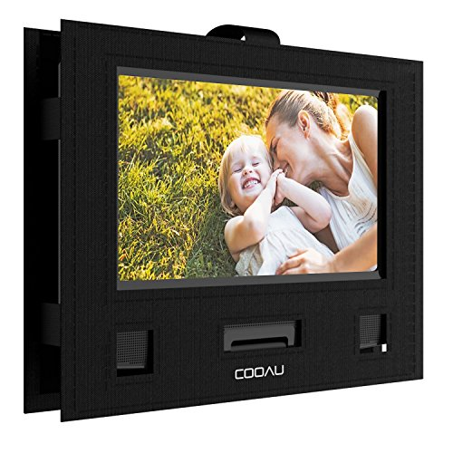 COOAU Car Headrest Mount Holder Hands-Free Carry Case for 9 - 9.5 Portable DVD Player with Swivel & Flip Screen