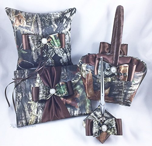 Mossy Oak Satin Camo & Brown Basic Wedding Set -
