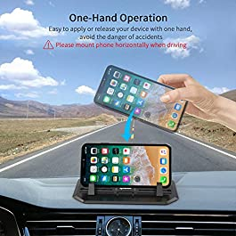 IPOW Anti-Slip Silicone Car Phone Dashboard Pad Mat,Hands-Free Cell Phone Holder for Car/Home/Office Compatible with…