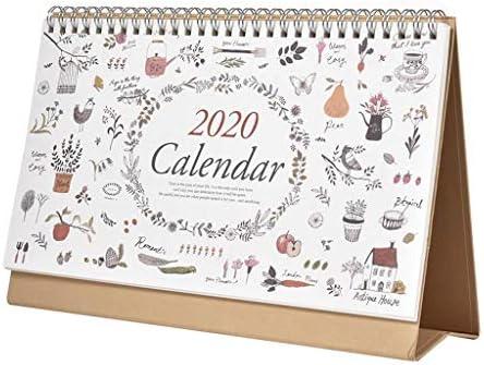 2020 Calendario de Escritorio Planificador de Doble Cara pie ...